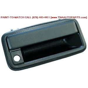 99 GMC YUKON OUTSIDE DOOR HANDLE FRONT LEFT (DRIVER SIDE) BLACK COLOR