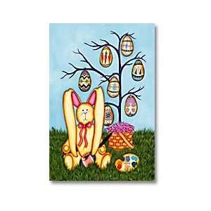 Easter Painting Eggs Tree Bunny Mini Flag Patio, Lawn