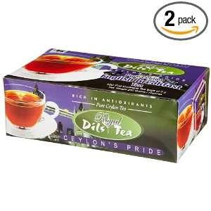 Dils Royal Tea, English Breakfast Tea, 100 Count Foil Envelopes (Pack