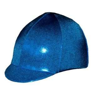 Equestrian Riding Helmet Cover   Holographic Royal Blue