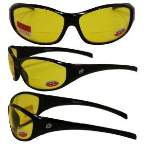 Sparrow Bifocal Safety Glasses By Birdz   Black Frames 2.5