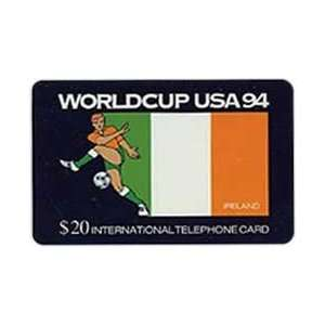 Collectible Phone Card $20. World Cup USA 94 Soccer   Ireland Flag