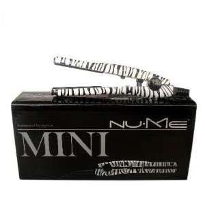 NuMe Mini Zebra Tourmaline Ceramic Flat Iron / Hair Straightener Dual Zebra T3
