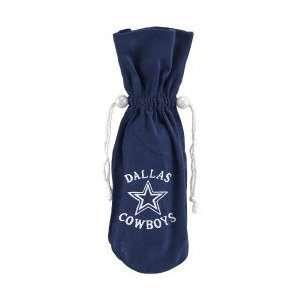 Dallas Cowboys Navy Blue Wine Bottle Bag