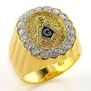Masonic Ring   Black Background   CZ Crystal   Sizes 8 13, 8