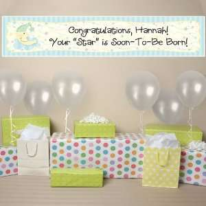 & Star Personalized Baby Shower Banner  Toys & Games