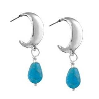 Sterling Silver Blue Turquoise Drop Earrings Jewelry