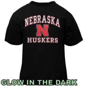 Cornhuskers Toddler Black Glow in The Dark T Shirt