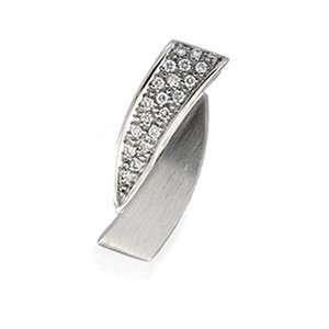14K White Gold Pendant W/Diamond