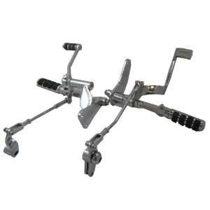 com Chrome Forward Controls with ISO Style Pegs for 1991 2003 Harley