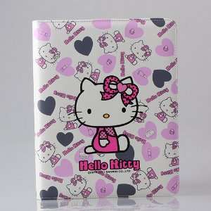 HELLO KITTY LEATHER CASE COVER & STAND FOR APPLE iPAD 2.