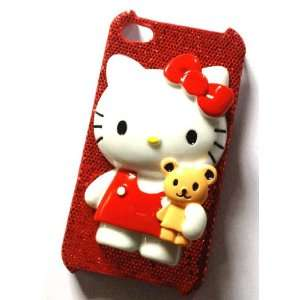 Hello Kitty Red Glitter Cute 3d Kawaii Iphone 4 / 4s Case