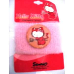 Pink Devil Hello Kitty Pin Wristband