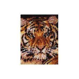 Wonderart Latch Hook Kit 15x20 Tiger Arts, Crafts