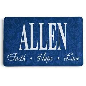 Faith, Hope, Love Family Name Doormat   Blue Patio, Lawn & Garden