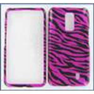 LG VS920 (Spectrum) Zebra on Hot Pink Protective Case