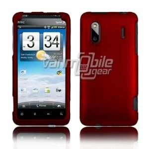 VMG HTC EVO DESIGN Hard Case Cover   Dark Red Hard 2 Pc Plastic Snap