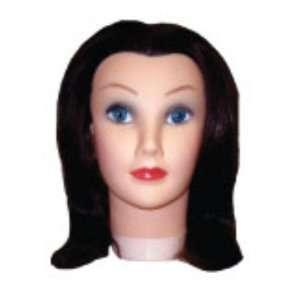 Hair Art Mannequin 12 100% Human Hair With Holder Beauty