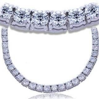 IGI Certified 18k White Gold Diamond Tennis Necklace (7.00 cttw, H I