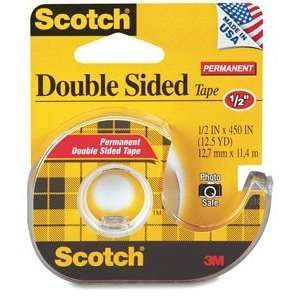 Scotch Double Sided Permanent Tape (1/2x 450) with