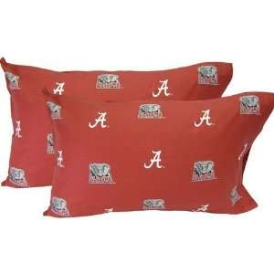 Alabama Crimson Tide Printed Pillow Case   King   Solid