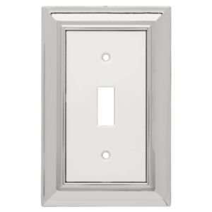 Liberty Hardware 126308 Architectural Chrome And White Switch Plates A