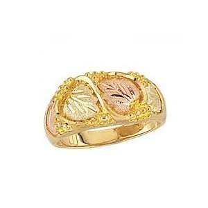 gold Black Hills Gold Diamond cut Womens Mens Wedding Bands: Jewelry