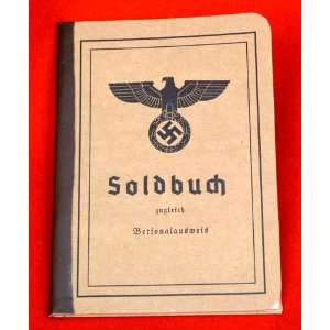 German WWII Army Soldier Identity & Payment Book Soldbuch
