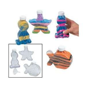 Under The Sea Plastic Sand Art Bottles (Pack of 12) Toys