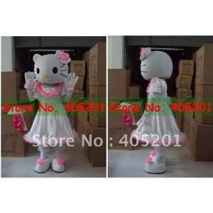 white dress hello kitty costume pink cute model Toys & Games