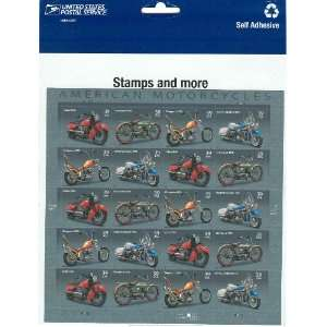 Harley Davidson American Motorcycles Mint Stamps 4085