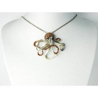 Antique Gold Octopus Necklace Fashion Jewelry by Zad Jewelry