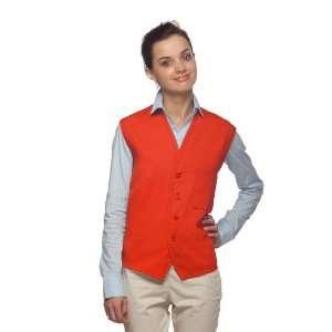 DayStar 740 One Pocket Uniform Vest Apron   Orange   Embroidery