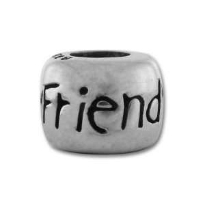 Authentic Biagi Friend Bead Charm .925 Sterling Silver fits Pandora