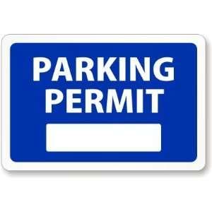 Blue Parking Permi for Inside of Car Window, Blank