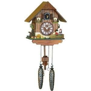 Quartz Cuckoo Clock Black forest house, incl. batterys