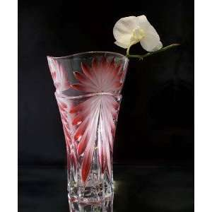 GLASS VASE RED COLOR   GLASS VASE RED COLOR