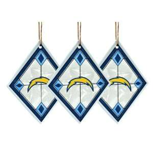 San Diego Chargers   NFL Art Glass Decorative Ornament Set