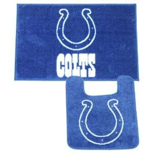 Indianapolis Colts Bath Mat Set (Shower Rug, Toilet Bowl