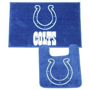 Indianapolis Colts Bath Mat Set (Shower Rug, Toilet Bowl