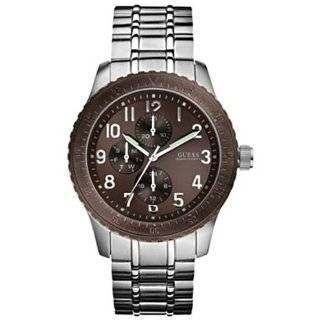 Mens U13604G1 Silver Stainless Steel Quartz Watch with Brown Dial