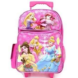 , Cinderella, Bell, Sleeping Beauty, and Ariel Large Rolling Backpack