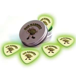 Glow In The Dark Premium Guitar Picks & Tin: Musical Instruments