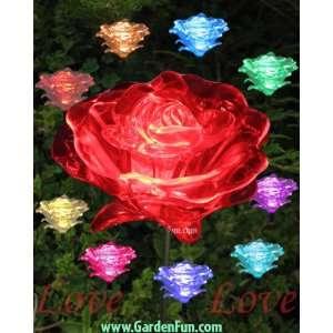 1 Dozen Solar Roses   (LED Color Changing) Patio, Lawn