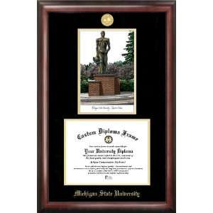 Michigan State University Spartan Statue Gold Embossed