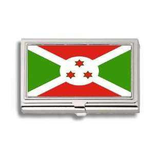 Burundi Burundian Flag Business Card Holder Metal Case