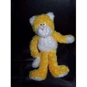 Baby Boyds Yellow Kitty Cat Plush Lovey 10 Tall