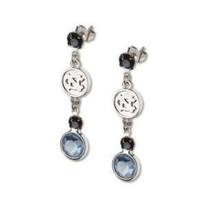 Univ Of North Carolina Earrings NCAA Logo w/ Team Colors MSRP $32.99
