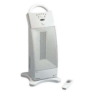 Tower Ceramic Heater, One Touch, 6 3/4x7 7/8x10, White