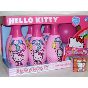 Girls Hello Kitty Bowling and Cube Game Set Toys & Games